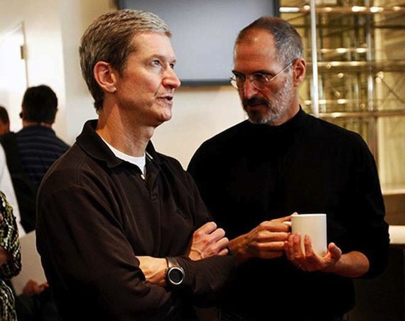 Tim Cook und Steve Jobs © Flickr/thetaxhaven